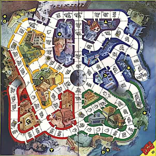 Quatres gangs de trois personnages - Parcours du combattant jeu ...